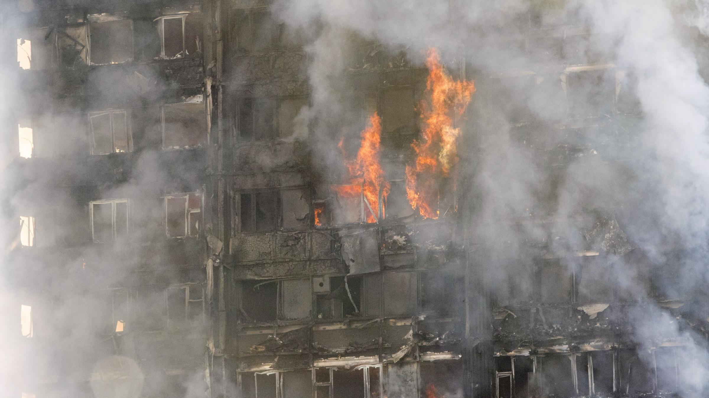 Huge fire engulfs west London tower block