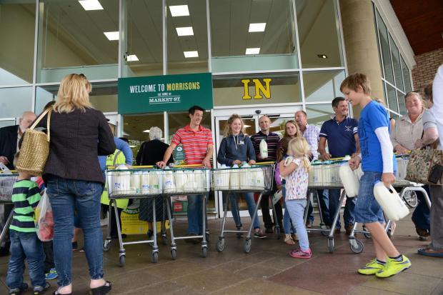 Mother's Day Mums-only checkouts at Newark supermarket
